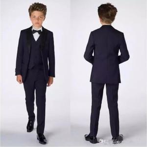 Smart Teens Tuxedo Niños Personalizados Fiesta de Traje Formal Trajes de Pantalón Formal Trajes de Cena Novio de Novia para Hombres (Chaqueta + Pantalones + Chaleco)