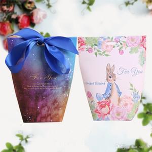 Caixa de doces Saco de Embalagem de Moda Céu Estrelado Flamingo Coelho Páscoa Nougat Envoltório de Presente Caixa de Cookies Nova Chegada 0 8wh dd