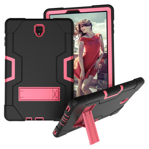 3 em 1 caso do híbrido Heavy Duty à prova de choque de silicone para Samsung Galaxy Tab S4 10,5 T837 T835 T830 Tablet