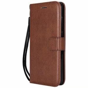 Brieftasche case für huawei p8 lite 2017 flip back cover reine farbe pu leder handy taschen coque fundas
