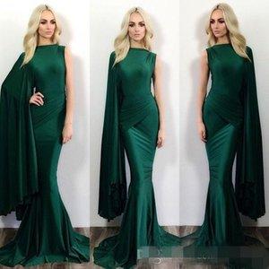 Hunter verde sereia vestidos de noite formais Michael Costello um ombro varrer trem sereia vestidos de baile vestidos de festa vestidos de noite mangas