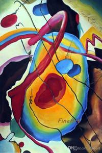 Pintados à mão arte da parede Wassily Kandinsky famoso artista pintura reprodução decorativo parede citações pinturas de arte penduradas na parede para de
