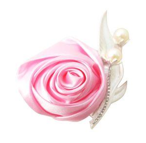 Европейская и американская розовая атласная брошь невесты и невесты моды брошь оптом