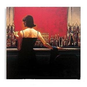 Çerçeveli Puro Bar Kadın Brent Lynch Handpainted / HD Baskı Modern Dekor Pop Art Yağlıboya resim Tuval Üzerine.