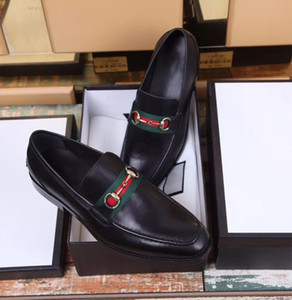 A alta qualidade de luxo vestido formal sapatos de 2018 coincidir com os sapatos de couro preto dos homens True coldre pés homens da moda Frete grátis