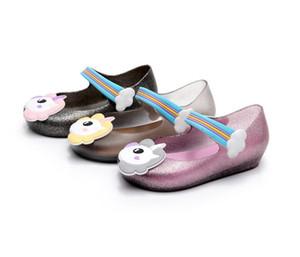 2018 Einhorn Schuhe neue Sommer Schuh Dargon Sandalen Fisch Mund Mädchen rutschfeste Kinder Sandale Kleinkind Baby Mädchen Schuhe