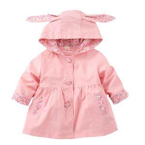 2017 Tsaujia весна осень с капюшоном девушки пальто хлопок Куртка для девочек 1-4 лет манто Fille ветровка KF255