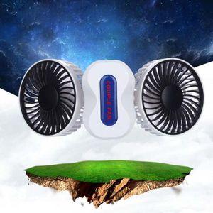 Mini Portátil Casal Dobrável Ventilador De Refrigeração De Ar De Refrigeração de 350 Graus de Rotação 2 em 1 Terceiro Ajuste Da Engrenagem ABS + Componentes Eletrônicos 1200mAh
