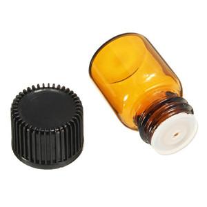 1 ml 2 ml 3 ml 5 ml Mini botella de vidrio ámbar con gotero 2cc vaciar la muestra de Protable Vial aceite esencial cristalería