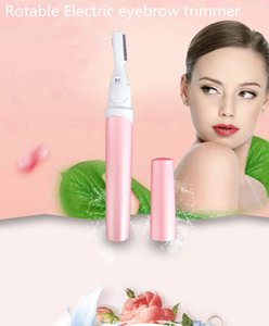 Electric & Healthy 45 angle rotable eyebrow trimmer set XMQ-3 pretty pink color 13*2.5*2Facial Hair Remover Brows hair remover Epilator