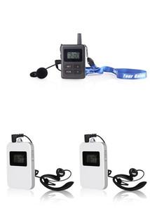 Sistema de traducción de guías de viaje inalámbricas UHF 1 Transmisor 2Receptoras Sistema de guías de viaje inalámbricas Enseñar Turismo de visitas