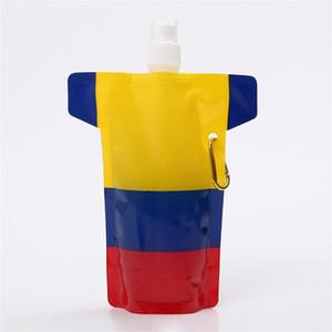 Портативная Складная Бутылка Воды Запуск Открытый Спорт Отдых Туризм Waters Bag Прочный Многоразовые Сумки Для Напитков С Карабином 2 5yb Y