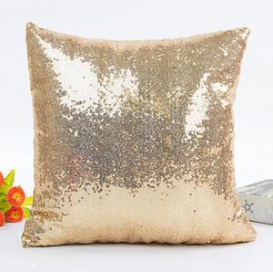 Hotsale Glitter Sequin Pillow Case Cover Home Decorative Square Throw Sofa Car Cushion Cover Pillow Case 40*40cm