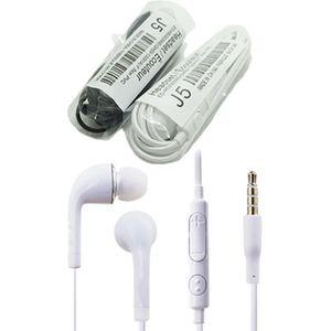 J5 del auricular en la oreja Auriculares estéreo con micrófono y auricular remoto para Samsung Galaxy S4 S5 S6 S7 100pcs / hasta