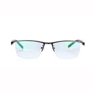 Meia-aro óculos de leitura fotocromáticos óculos progressivos Mudança de cor Lens Eyewear Black Metal Frame Men Leitor de Olho + 1.0 ~ + 3.0 Força