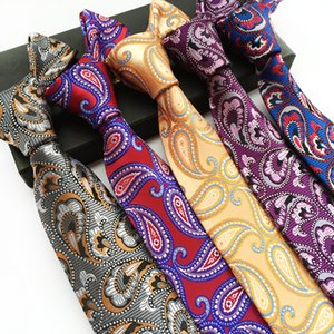 Mantieqingway 남성 정장 정장 Paisley Neck Ties 폴리 에스터 무늬 넥타이 Floral Gravata 남성용 Wedding Dots 넥타이 남성용