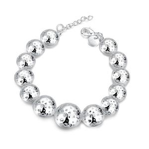 presente de casamento Hollowed Estrela Pulseira pulseira de prata esterlina banhado SPB462;! 925 prata alta Quatity moda feminina frisados Stra Pulseiras
