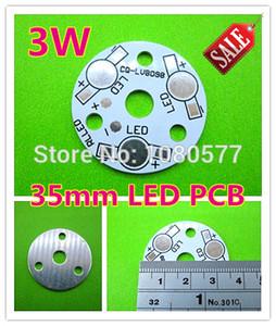 Piastra di base in alluminio da 3W LED da 35mm, PCB da 3W ad alta potenza, PCB LV8098 per DIY una lampada a LED
