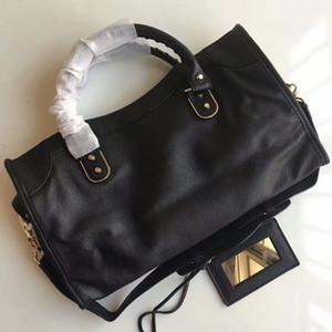 Bolsa de couro genuíno clássico 38cm bolsa de mulheres Uma variedade de cores Bolsa de senhora de moda couro genuíno bolsa de couro Genuíno preto, vermelho, gery