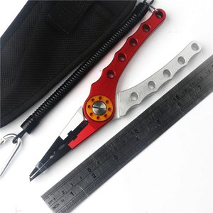 Multi-function Fish Lip with Retension Rope Protective Case Portable Gripper Fishing Lure Pliers Scissors Tool