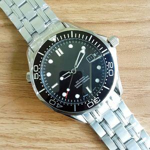 2018 Luxury Professional 300m James Bond 007 Reloj Master Co-Axial Automment Correa inoxidable Reloj deportivo para hombre Reloj de pulsera
