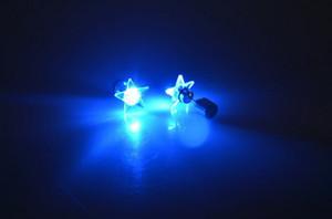 Star Shape Led Earrings Luminous Bright Ear Novelty LED Flashing Stud for Christmas Halloween Dance Club Party Event Wedding Birthday Gift