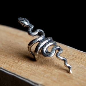 Trasporto libero dei monili gotici punk degli orecchini della clip dell'involucro dell'orecchio del serpente dell'argento sterlina 925 di sogno scuro