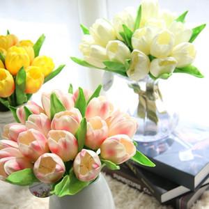 ROSEQUEEN Artificielle Tulipe Fleur Real Touch Fleur De Mariage Bouquet De Soie artificielle fleurs pour la Maison décoration parti