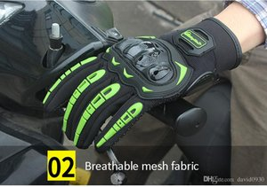 Riding Tribe Touch Screen Moto Gloves Respirable Durable Anticollison Bike Racing Guantes antideslizantes Verano Negro Verde MCS-17