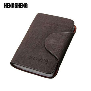 HENGSHENG Business Credit Card Holder Card Wallet Purse Credit Card Nubuck PU Leather Wallet Business Credit Unisex Holder