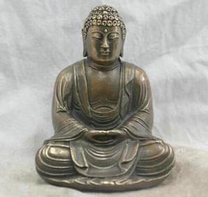 Chinese Folk Culture Handgemachte Messing Bronze Statue Shakyamuni Buddha Skulptur