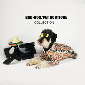 Hundemarke Design Shirts Puppy Classic Plaid Shirts Modemarke Dog Lässige Hoodies Teddy Puppy Apparel Herbst Lässige Outwears Pet Kleidung