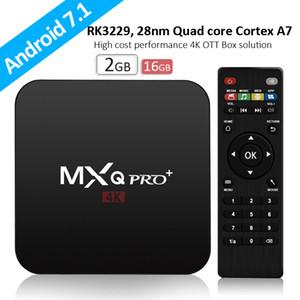 MXQ PRO caixa de tv Android Rockchip RK3329 Android 7.1 TV BOX 2G 16G WiFi 4K set top box transporte DHL grátis