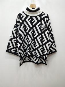 Milan Runway Sweater 2018 Khaki Lettera manica lunga collo a tartaruga maglioni donna High End Pullover Jacquard donne maglione del progettista 10-2-18