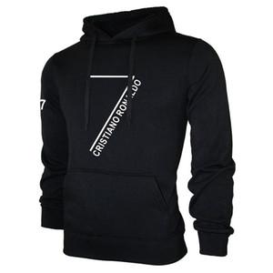 패션 의류 크리스티아누 호날두 후드 남성 긴 소매 풀오버 스웨터 CR7은 스웨터 힙합 Streatwear의 L 인쇄 쿨