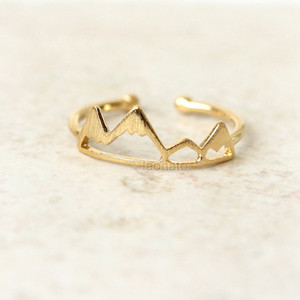 10pcs Gold Silver Handmade Mountain Peak Ring Mountain Top Ring Mountain Valley Jewelry Gift For Friends
