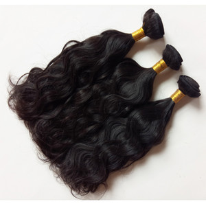 Factory Supply 100%human Hair weft 8-26inch Natural Wave 3bundles Indian remy Hair Extensions Dyeable no shedding,no tangle,no split,soft