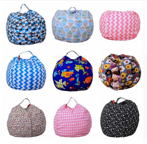 Kids Storage Bean Bags Plush Toys 43 colors Beanbag Chair Bedroom Stuffed Animal Room Mats Portable Clothes Storage Bag DHL Free Shipping