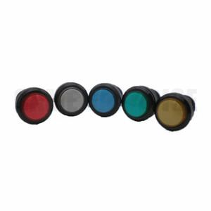 1 ADET 24mm Işıklı siyah vücut Push Button arcade oyun makinesi için çok renkli mevcut ile microswitch