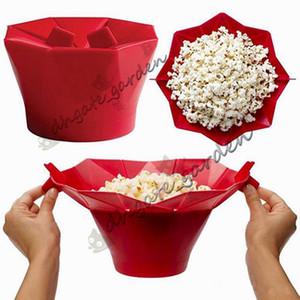 Silikon patlamış mısır kova Patlamış Mısır makinesi saklama kabı Katlanabilir mikrodalga pop mısır kutusu kova şişirilmiş pirinç gıda kase ...