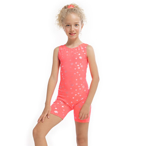 3-10Y Girls Kids Ballet Dress Gymnastic Leotards Sleeveless Dance Jumpsuit Dancing Biketard Dancewear Ballet Clothing Costume