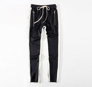 Yeni erkek Pantolon Tanrı Korkusu Beşinci Koleksiyonu SIS FOG Justin Bieber Yan Fermuar Rahat Sweatpants Erkekler Hiphop Jogging Yapan Pantolon S-2XL Sıcak Satış