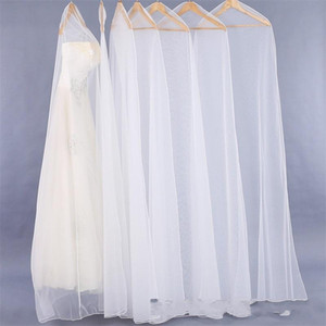 Verschlüsselungs-Kürettage-Nettogarn-Hochzeits-Kleid-Staubschutz-wiederverwendbare volle Kleideraufbewahrungs-Tasche verlängern klare Taschen Heißer Verkauf 9km Zz