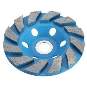 Freeshipping 1 PC 4 '' Roda De Diamante 6 Hole Diamante Segmento de moagem CUP Roda Disco Moedor De Pedra De Granito Para Concreto Cerâmica Polimento