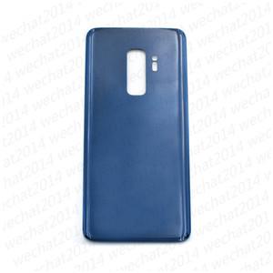 50 pcs porta da bateria de volta habitação capa de vidro capa para samsung galaxy s9 além de g960f g965f com adesivo adesivo
