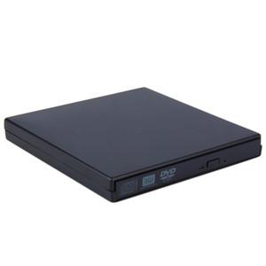 Freeshipping YENI Taşınabilir USB 2.0 DVD CD DVD-Rom Harici Durumda Ince Laptop Notebook için Siyah Harici Sabit Disk Disk Muhafaza