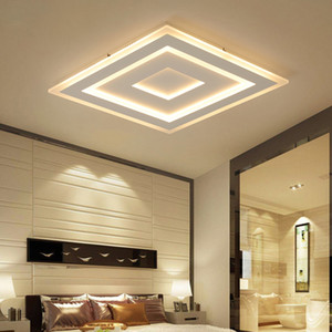 Ultrasottile Surface Mounted principali moderne plafone lamparas de techo quadrato rettangolo acrilico dispositivi della lampada a soffitto