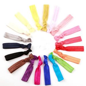 Moda alta cravatta capelli elastici multi colori Baby Girl ponytail Holder accessori per capelli con nodo Headrope Factory Direct 0 13ag BB
