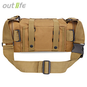 Outlife Multifunctional Tactical Waist Bag Molle Pack Rucksack for Hiking Camping Trekking