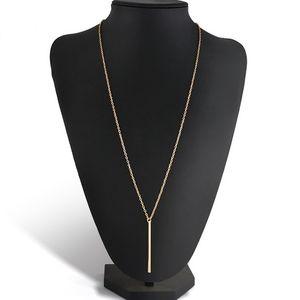 2019 حار الأزياء سبيكة النحاس ربط سلسلة طويلة شريط قلادة المرأة سيدة فتاة قلادة قلادة ذهبية فضي
